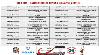 Calendario Liga EBA