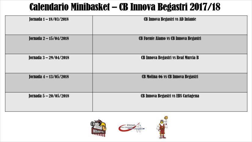 Calendario Minibasket Segunda Fase